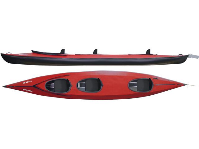Triton advanced Vuoksa 3 Advanced Kayak Set Completo, rojo/negro